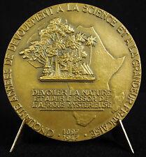 Médaille Auguste Chevalier Afrique mystérieuse Africa botanique botanist medal