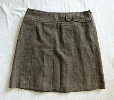 "Ann Taylor Loft Brown Wool Blend Pleated Fit Flare Skirt lined 33"" Waist 12"