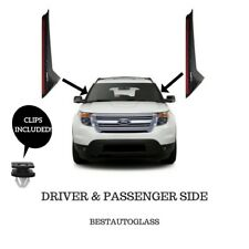 11-18 Ford Explorer Windshield Outer Trim Molding Passenger&Driver Side W/ Clips