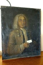 BEAU PORTRAIT D HOMME XVIII° SIECLE D EPOQUE DEDIE A UN APOTHICAIRE DE CATALOGNE