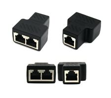 RJ45 Splitter Adapter 1 to 2 Ways Dual Female Port CAT5/6 LAN Ethernet @ly