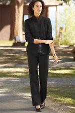 Ladies Orvis Scrunch Cloth Black Zip Up Lightweight  Jacket M