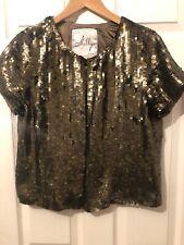 Milly Of New York Vintage Bronzr Sequin Jacket - US10 Uk14