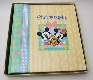 Disney Vintage Mickey and Minnie Mouse Photo Album, C.R. Gibson, New In Box