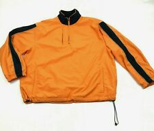 DAC Performance Orange Jacket 1/4 Zip Pullover Size L 3M Reflective Windbreaker