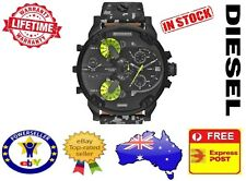 DIESEL DZ7311 MR DADDY 2.0 Camo Leather Multiple Time Zone Chrono Mens Watch