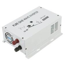 600W DC to AC Car Power Inverter Pure Sine Wave Inverter 12/24/48V to 120/220V