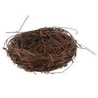 10X(Handmade Rebe-Zweig-Vogel-Nest-Ausgangsnatur-Handwerks-Feiertag Für FotJ2L4)