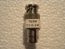 Terminador BNC coaxial de alimentación a través de 50 ohmios 2 vatios