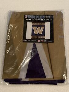"*NEW* NCAA University of Washington UW Huskies 36"" x 47"" Garden Yard Flag Banner"