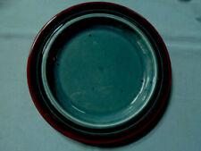 "Finland Arabia Meri Blue & Brown Salad 8"" Plate - Mint Condition"