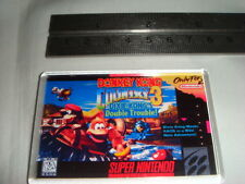SUPER NINTENDO  GAME COVER FRIDGE MAGNET DONKEY KONG COUNTRY 3 DIXIE KONG