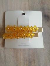 URBAN OUTFITTERS Yellow Hair Clips Beaded set new RRP £18