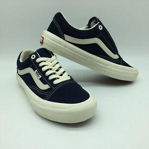 "Vans Men/Women's Shoes ""Old Skool Pro"" (Wrapped) Navy/Marshmallow"