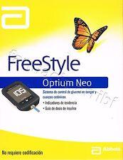 Medidor glucosa GLUCOMETRO FREESTYLE OPTIUM NEO+10 tiras+pinchador+10 lancetas