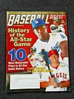 JULY/AUGUST 2014 BASEBALL DIGEST: JETER, PUIG, PEDROIA, TROUT on Cover