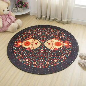 Simple Style Round Carpet Kids Rug for Bedroom Bedside Rug Tapeta Baby Crawling