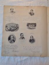 Poeti georgiani acquaforte un stampe da SCAP LIBRO CARICATURA
