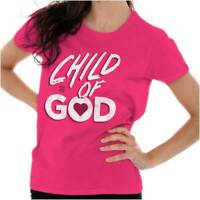 Child Of God Religious Christian Strong Jesus Christ Lord Ladies T Shirt