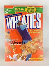 Wheaties Tiger Woods Cereal Box 1999 Champions Empty Golf Collectible