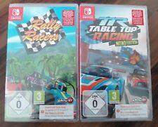 2 Nintendo SWITCH Spiele NEU/OVP Rally Racers und Table Top Racing Nitro Edition