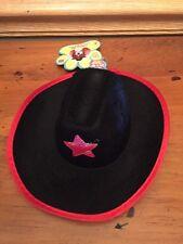 Western Cowboy Sheriff Hat Black puppy/dog small/med