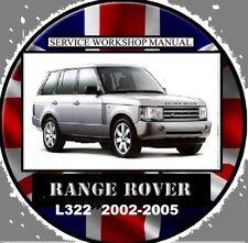 RANGE ROVER L322 2002-2005 4.4L V8- TD6 WORKSHOP REPAIR SERVICE MANUAL  DVD