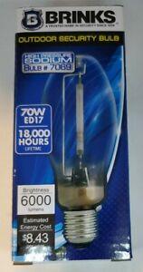 NEW Brinks 7069 High Pressure Sodium Light Bulb, 70W, ED17, 18,000 Hours, 2100K
