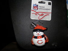 CHICAGO BEARS ORNAMENT Snowman W/ Stocking Hat NFL NEW AUTHENTIC