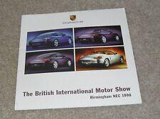 1998-Folleto Motorshow Porsche Boxster & 911 996 carrera