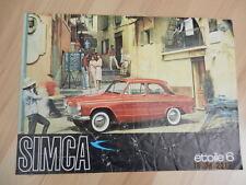 Catalogue SIMCA P60 étoile 6 1961 ou 62 aronde