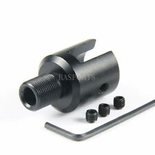 Aluminum Ruger 1022 10-22 Muzzle Brake Adapter 1/2x28 Thread, Three Lock Nut