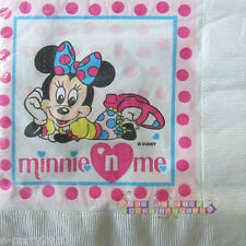MINNIE MOUSE VINTAGE SMALL NAPKINS (20) ~ Disney Birthday Party Supplies Cake