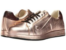 NEW PAUL SMITH PS Rose Gold Metallic Copper Star Embossed Leather Sneakers Flat