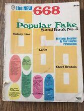 Popular Fake Song Book No.3, 1960's hits,sheet music,668 lyrics chords melodies