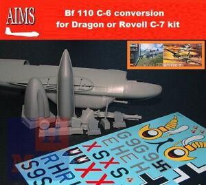 """1/32. Messerschmitt Bf-110C-6 convertions resin set, by """"AIMS Models"""" 32P022"""