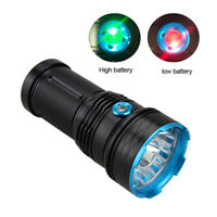 Tactical 45000LM Ultra Bright 12x T6 LED Flashlight Torch Camping Lamp 4x 18650