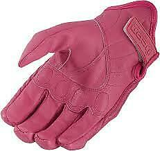 Womens Pursuit Leather 2020 Icon Motorcycle Gloves - USA SELLER 3302-0068