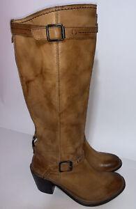 Frye Size 6.5 Women's Carmen Inside Zip Boot 77386 Saddle