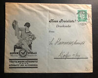 1930 Gossnitz Germany Advertising cover Textil Materials Wolle