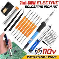 Soldering Iron Kit Electrical Welding Tool Gun Set Solder Station 60W 110V USA