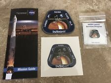 NASA INSIGHT MARS ATLAS V-401 SPACE PATCH / PIN / STICKER / MISSION GUIDE