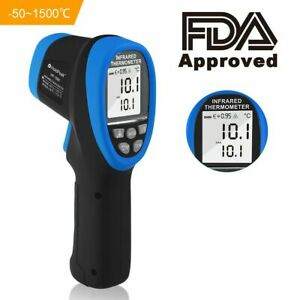 Infrared Thermometer Volcanic Melt Temperature Laser Gun IR 1500℃ Thermograph