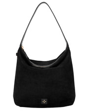 BRAND NEW India Hicks Stallion Bag Hobo Black Suede Handbag Leather Shoulder