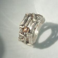12 mm breiter Ring , Silber 925, Flamere Design by Dieter Fischer
