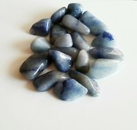 14-20 pcs Blue Quartz Tumbled 1/4 lb bulk stones