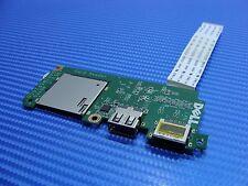 "Dell Inspiron 3135 11.6"" Genuine USB LAN Memory Card Reader Board w/Cable 4VMN5"