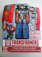 Blankie Tails Transformers Optimus Prime Shaped Blanket Climb inside 22 x 60