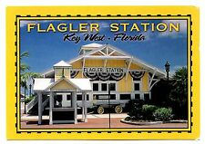 Flagler Station Museum Key West Florida Postcard Railroad Railway Unposted