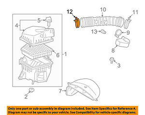 TOYOTA OEM Air Cleaner Intake-Hose Duct Tube Clamp 9611110880